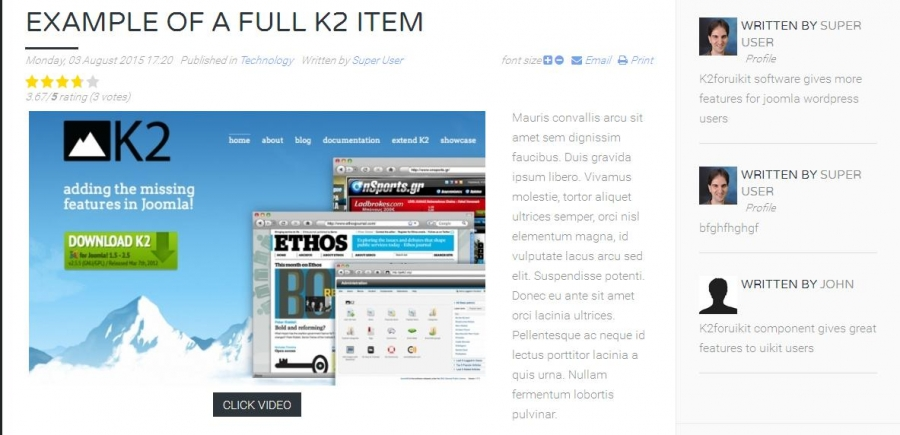 K2 Overrides For Yootheme Templates
