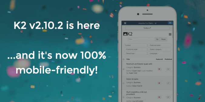 K2 v2.10.2 released - now with a 100% mobile-friendly backend user interface!