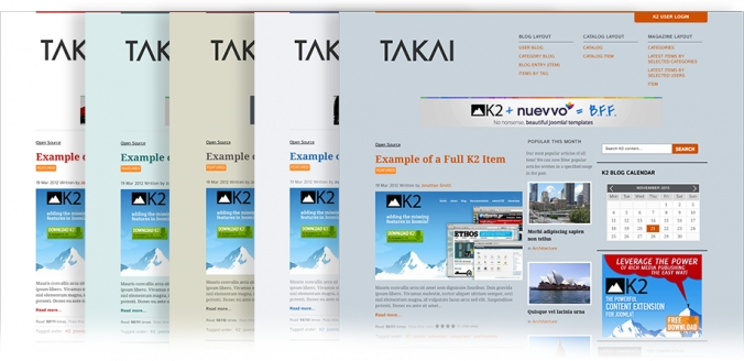Takai, the official K2 demo site, now available as a free download