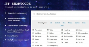 BT Shortcode - Free Joomla Plugin