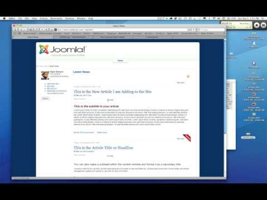 Basic Adding Article To Joomla Site with K2