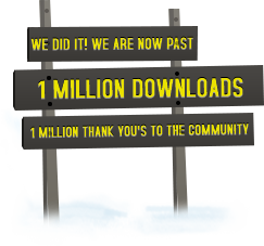We did it! We are now at 1 Million Downloads. 1 Million thank you's to the community